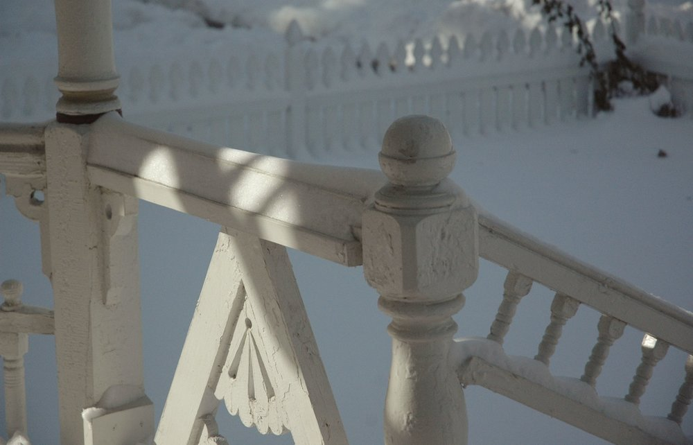 snow porch