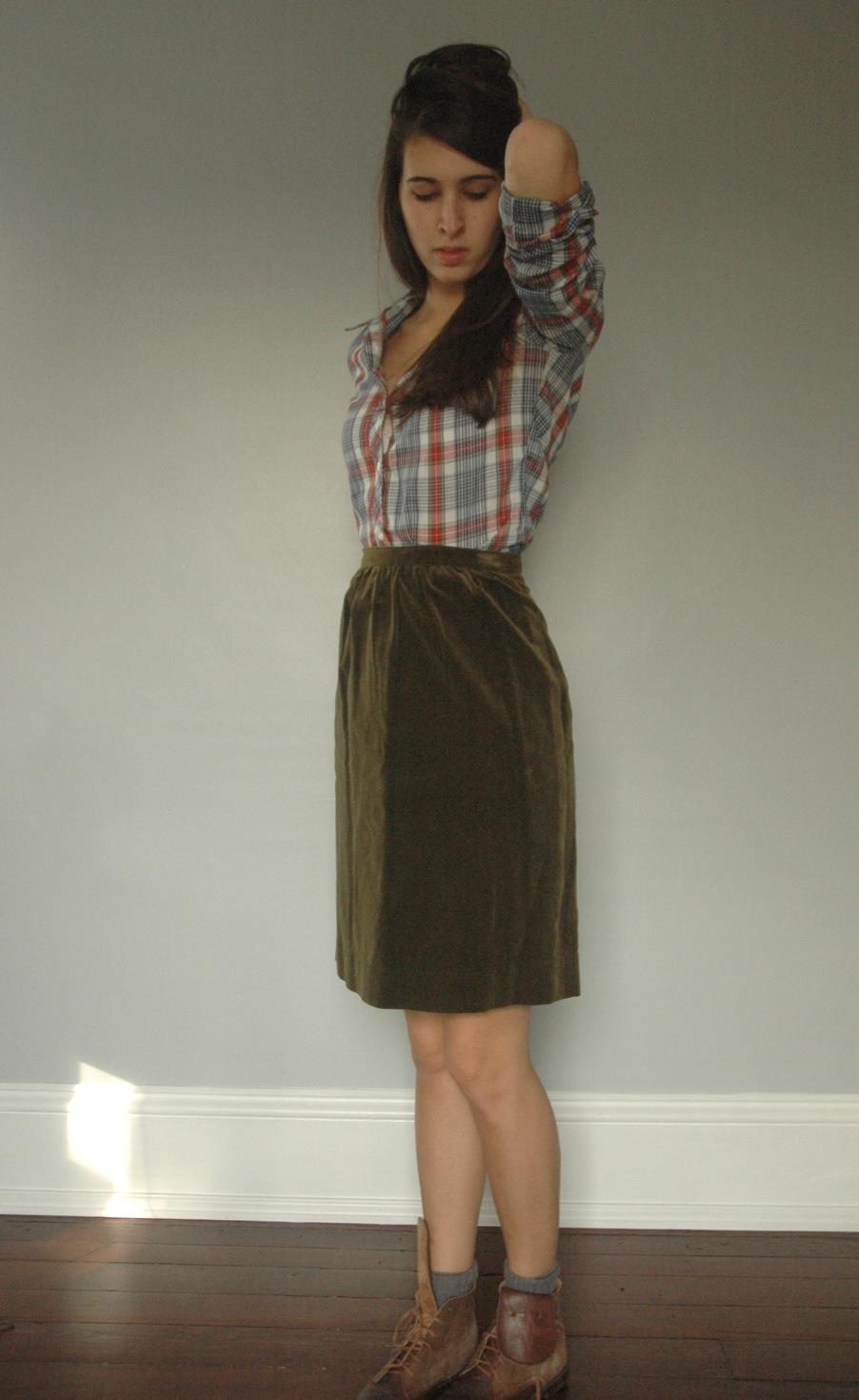 vintage straight skirt