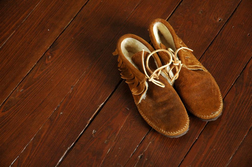 thrift moccasins