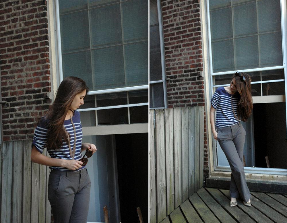 classic grey khakis