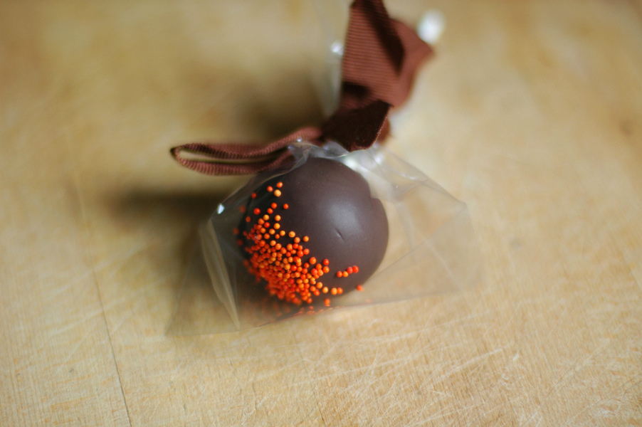 pumpkin cake pop
