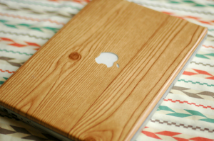 Fine and Feathered Wood Grain Laptop Wrap
