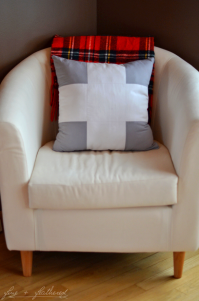 Fine and Feathered Swiss Cross Pillow DIY