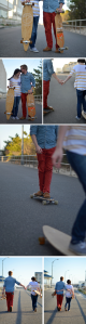 Fine and Feathered Longboarding Couple Photography