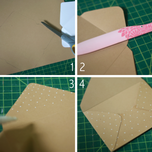 Fine and Feathered envelope DIY