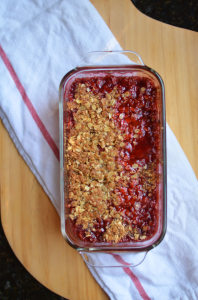 Fine and Feathered Strawberry Rhubarb Crisp
