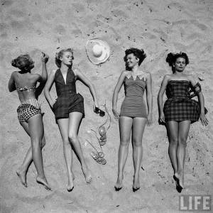 Fine and Feathered 1950s Bathing suits