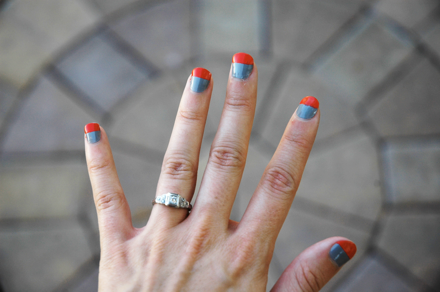 color blocking nails