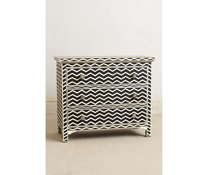 Anthropologie Chevron Dresser via Fine and Feathered