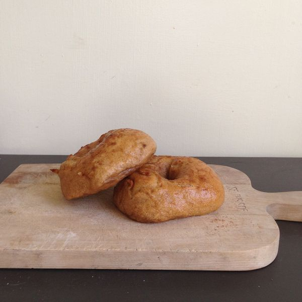 Fine and Feathered Pumpkin Bagels
