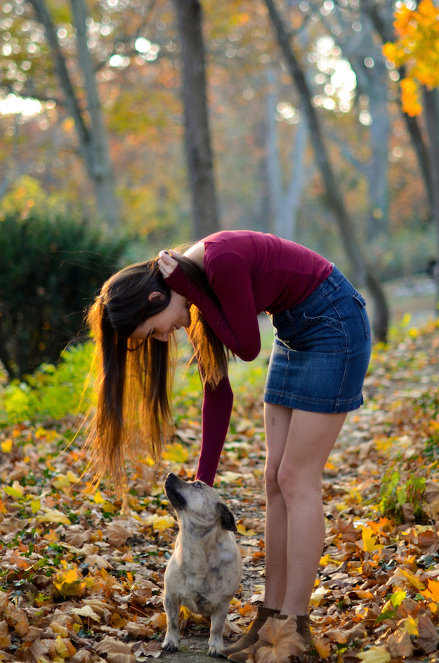 Fall Outfit with Dog