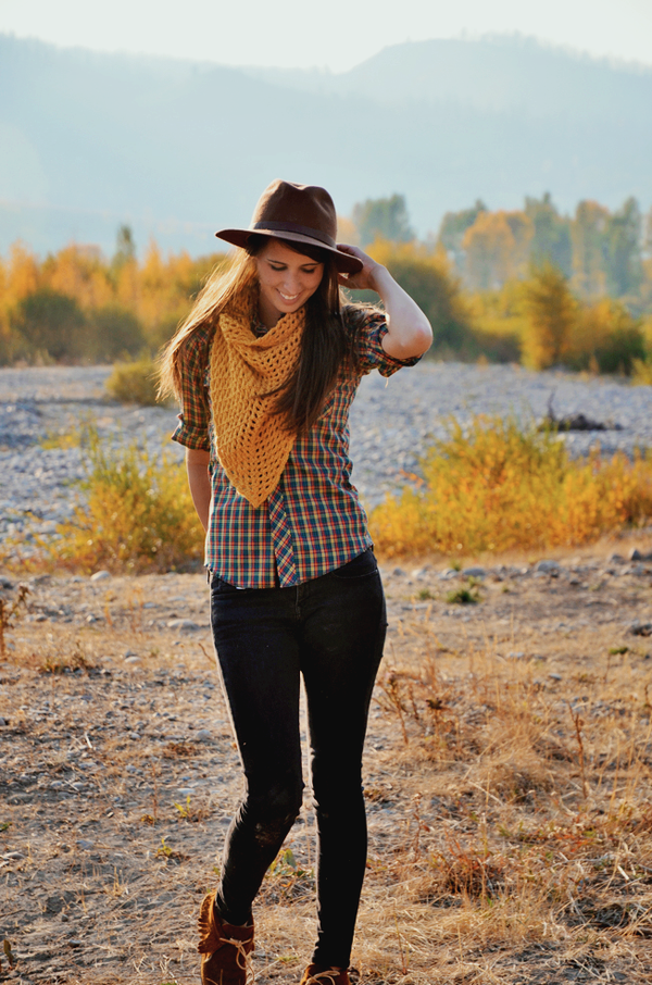 Fall Plaid Hat Styling