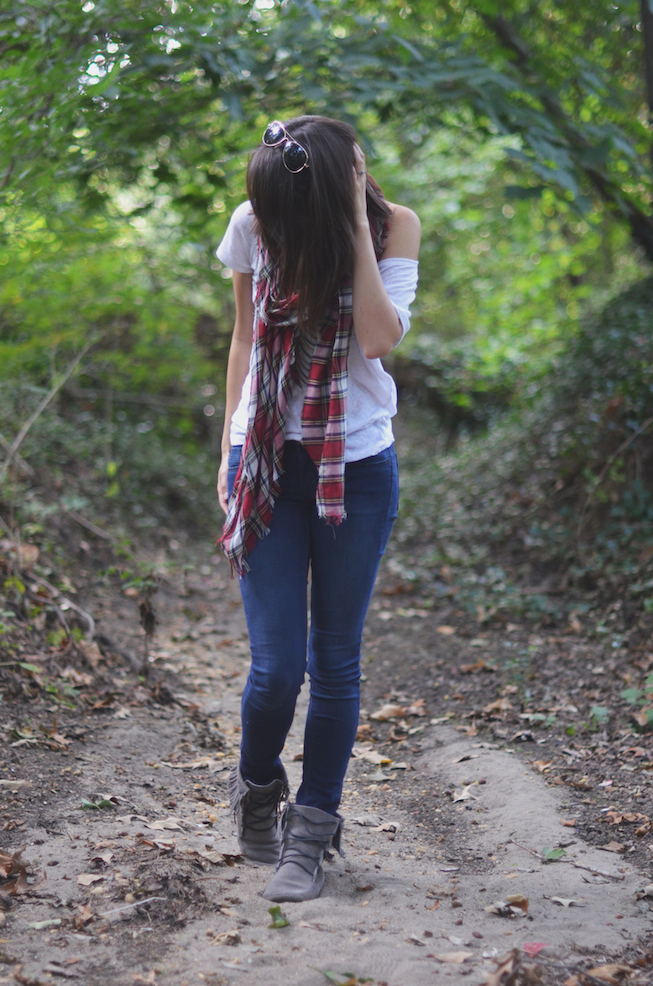 Jeans and White Shirt Styling Fall