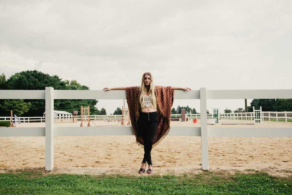 Maggie Emerick Free People Horse Photoshoot