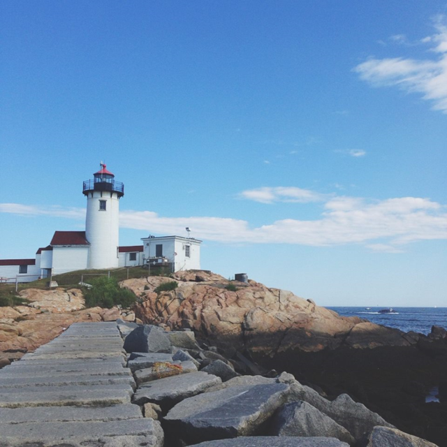 New England Lighthouse Coastline