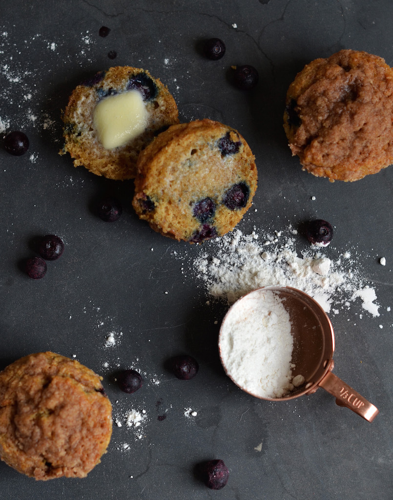 Fine and Feathered - Healthy(ish) Blueberry Muffins