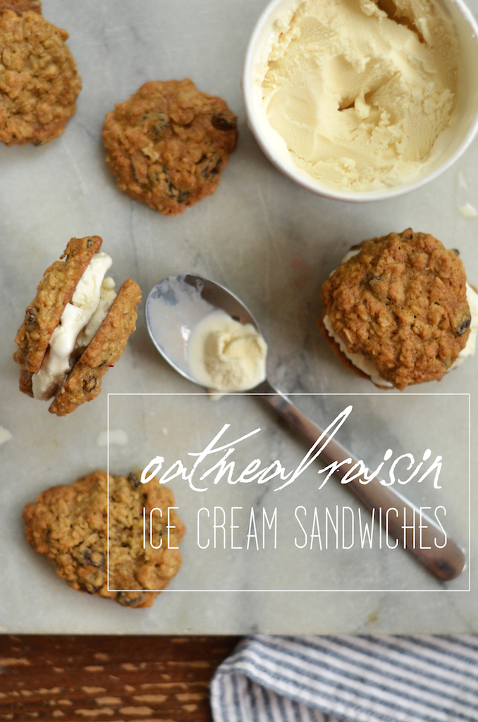 Fine and Feathered - Oatmeal Rasin Ice Cream Sandwiches