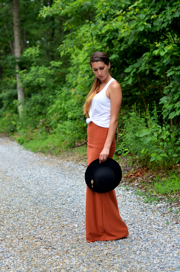 Fine and Feathered - Summer Maxi Skirt