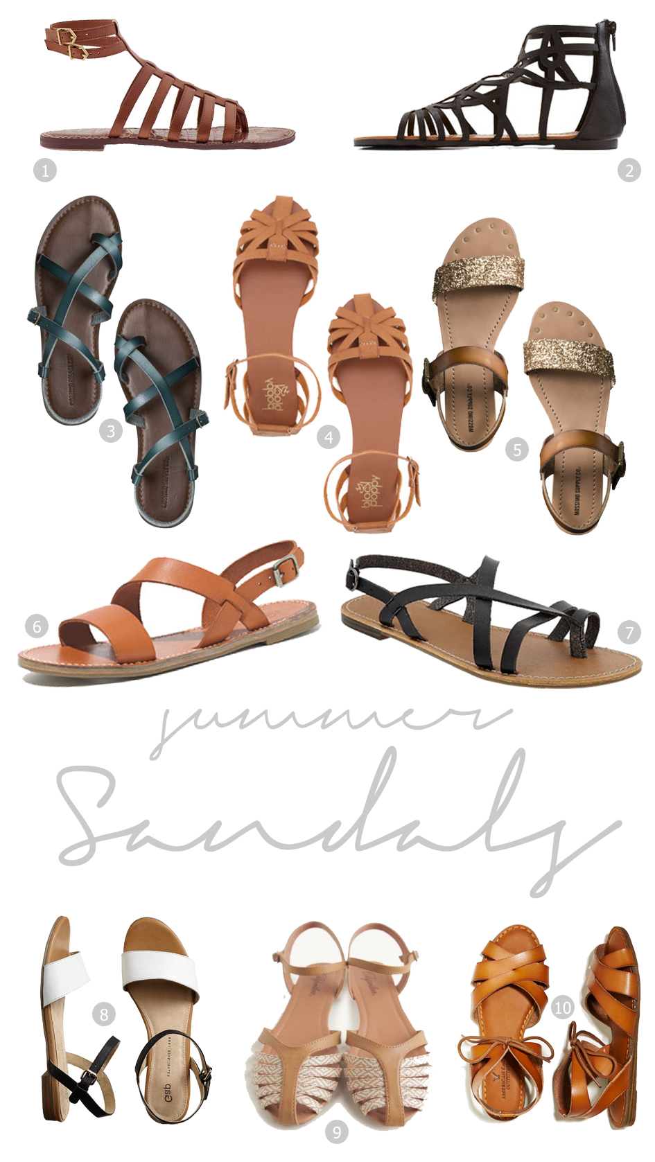 Fine and Feathered - 10 Summer Sandals under $100