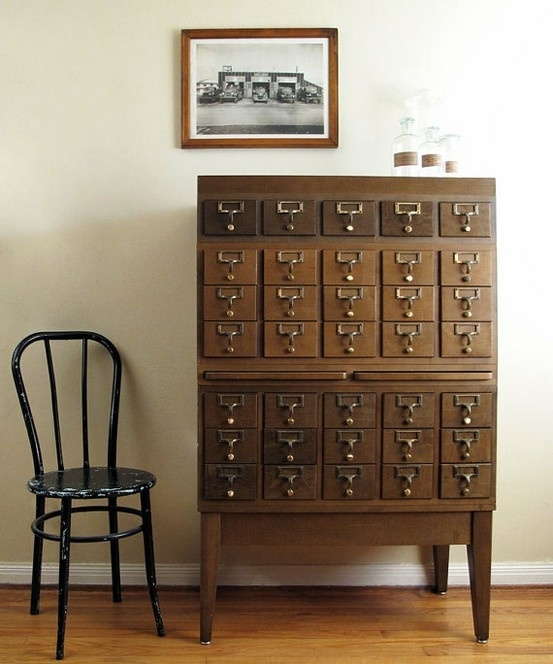Card Catalog from Etsy via Fine and Feathered
