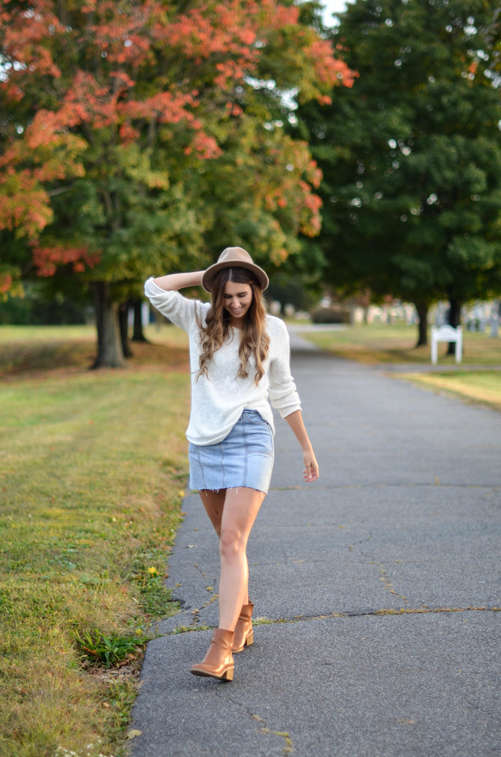 Sweaters and Mini Skirts - Fine and Feathered Blog