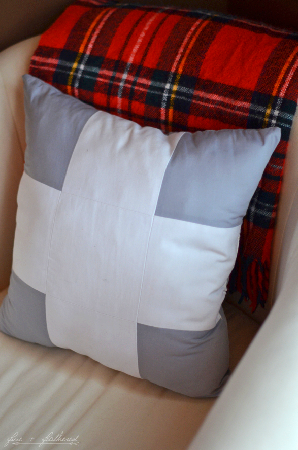 Fine and Feathered Pillow DIY