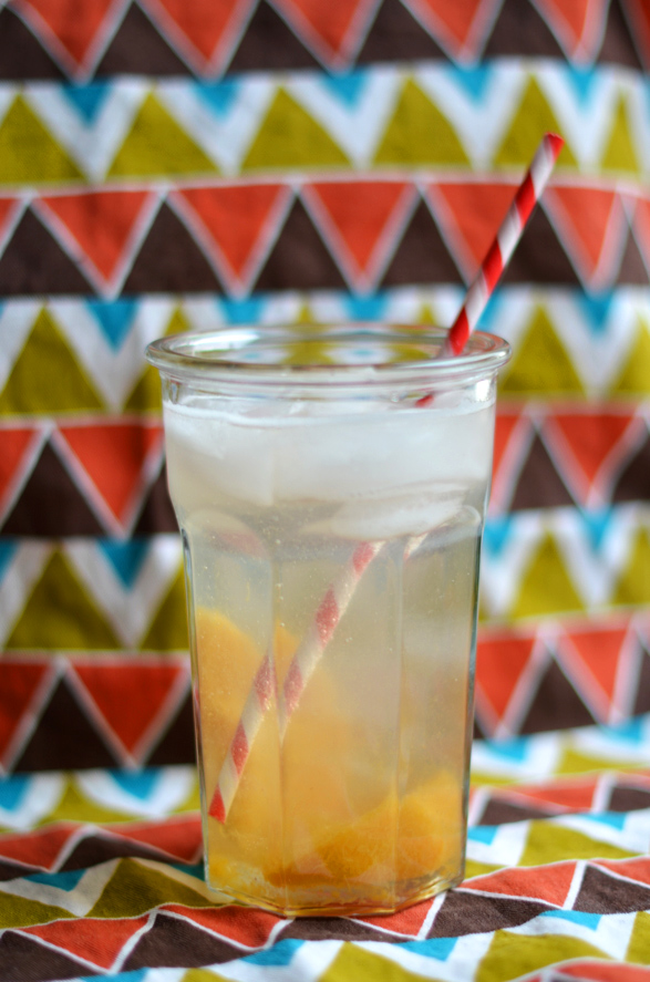 Fine and Feathered Peach Fizz
