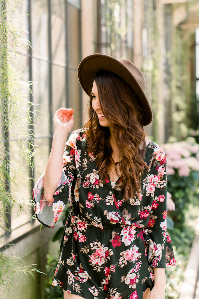 Summer Style Floral Romper on Fine and Feathered Blog