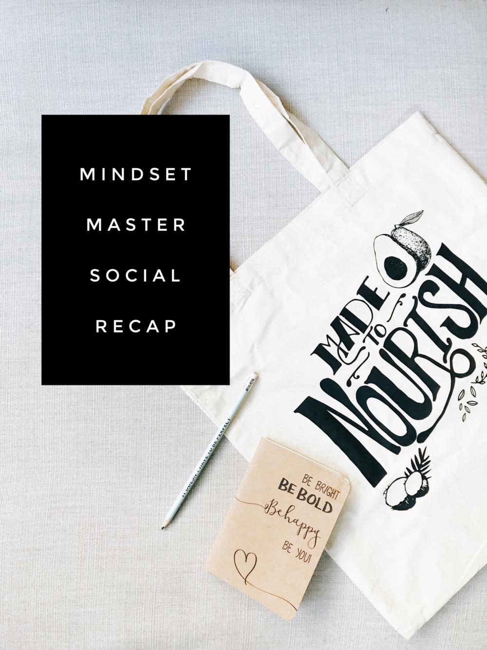 Mindset Master Social Event Recap on the Josie Feather Blog