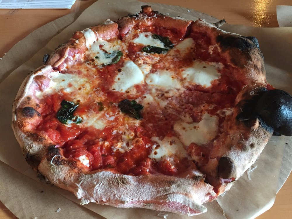 Margherita (this one had pink dough for Valentines Day)