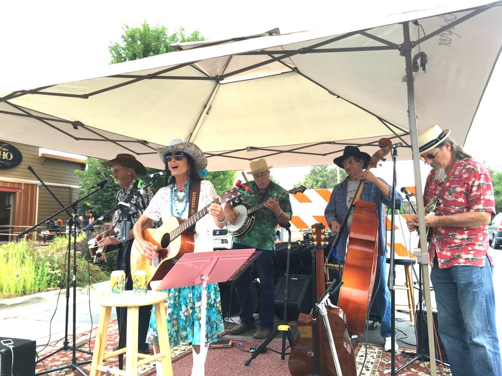 Barbara Jo & The Hippie Buckaroos perform at the Erie Farmers Market.