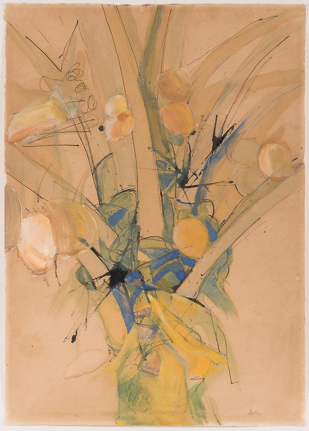 Palm, 1957, Ink & Wash on Paper, 38cm x 27cm, Private Collection