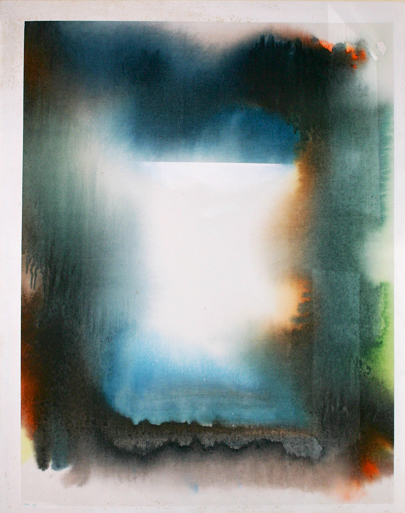 Landscape, 1967, Acrylic on Canvas, 127cm x 100cm, Private Collection