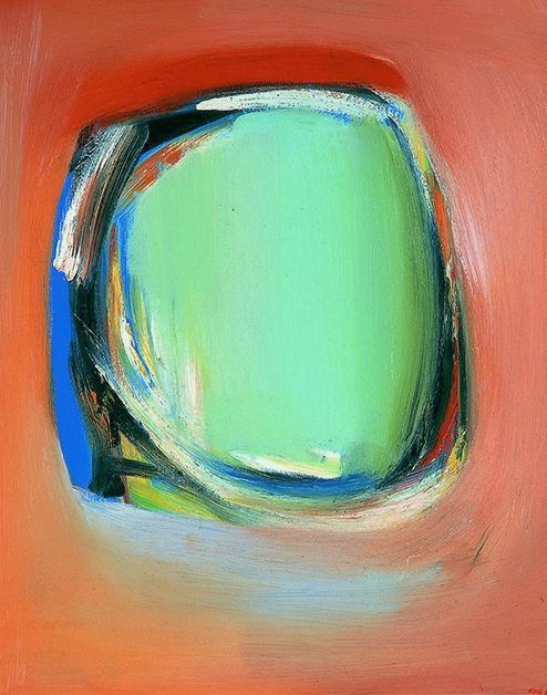 Floating Form, 1967, Oil on Board, 74cm x 59cm, Corporate Collection