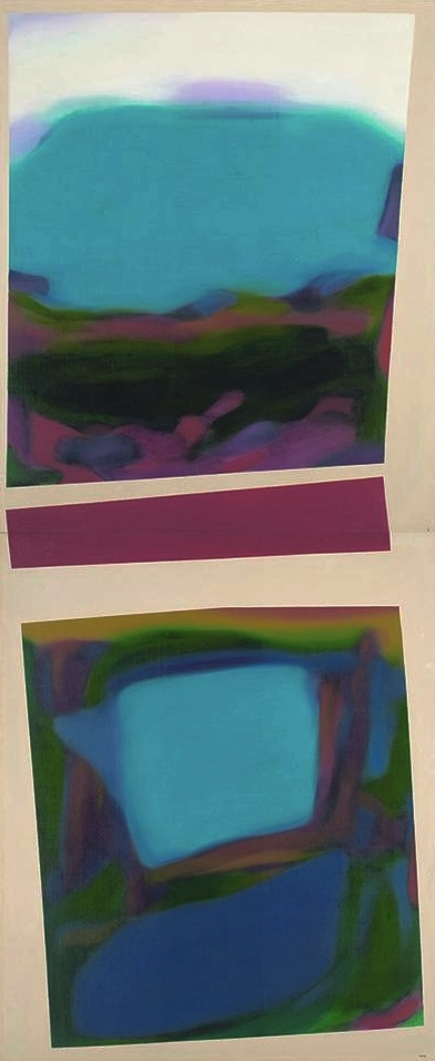 Tanneleon, 1968, Oil on Canvas, 264cm x 107cm, Collection of National Gallery Singapore