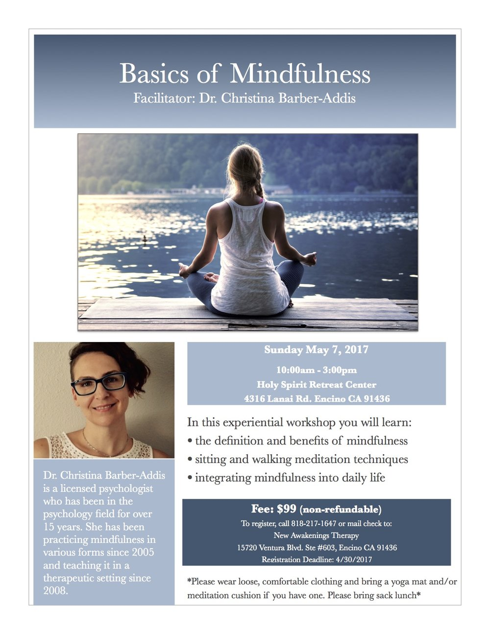 Mindfulness Workshop in Encino