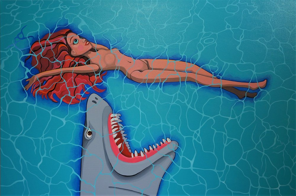 shark head puppet red head bbd painting July 5 '18.jpg