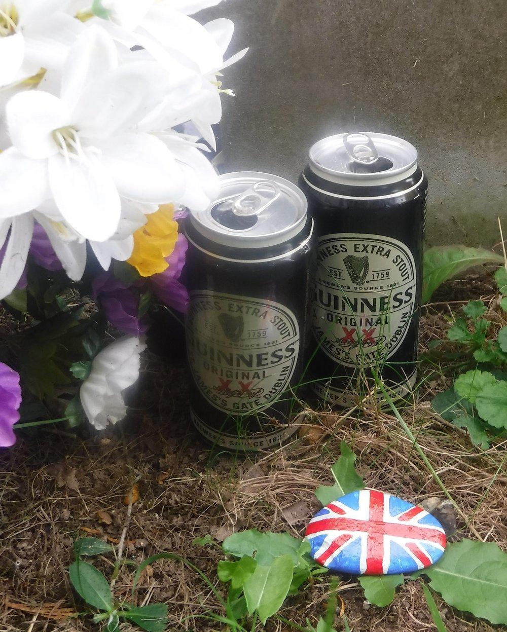 Guinness stone, Julian's grave.JPG