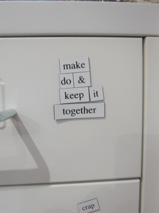 magnetic lettering.