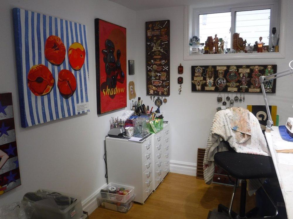 Studio, new cabinets.