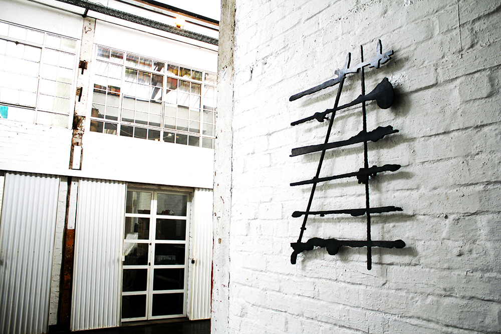 Josie, Mild steel sculpture, 60 x 85 cm, Maboneng Art Week, Arts On Main, Curated by Parts&Labour, Johannesburg, 2015.