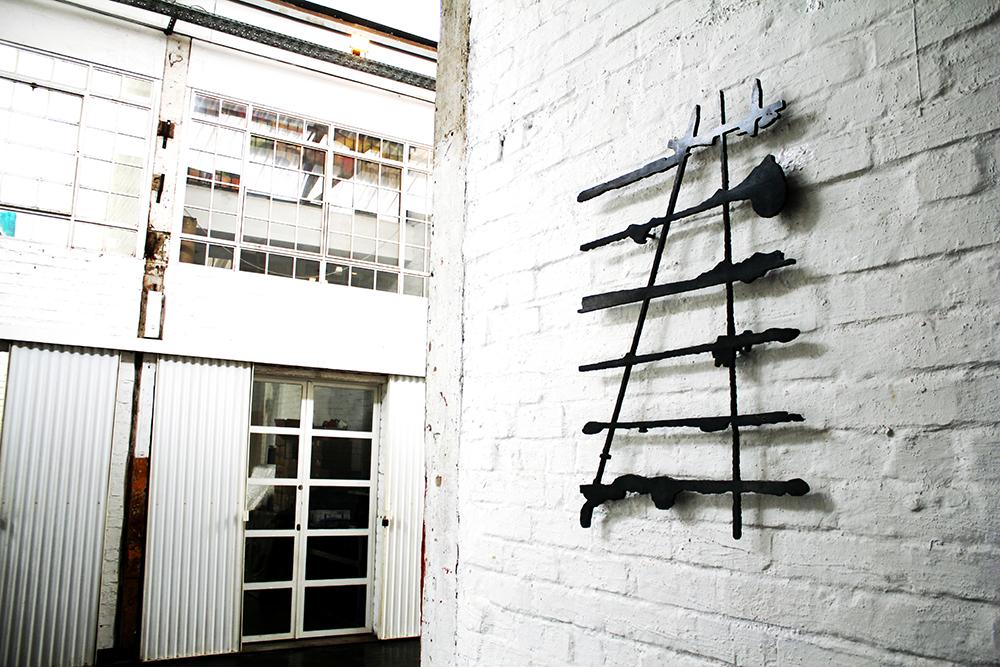 Josie , Mild steel sculpture, 60 x 85 cm, Maboneng Art Week, Arts On Main, Curated by  Parts&Labour ,Johannesburg, 2015.