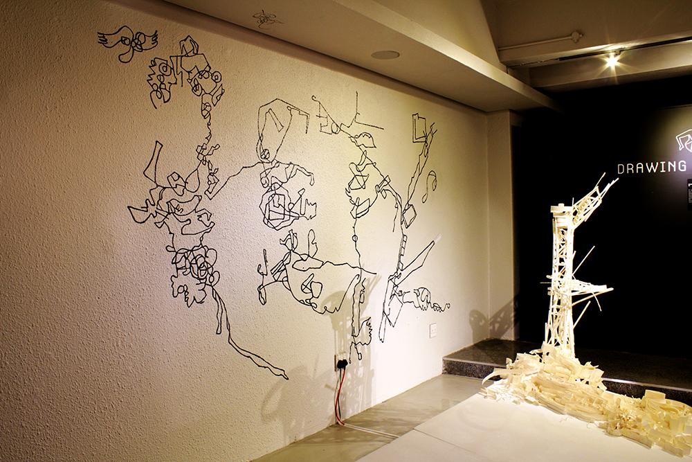 La nostra citta invisibile tra l'aqua e la sabbia , Acrylic paint mural, 2.5 m x 4.4 cm, Curated by Elena Rocchi and  Dieter Brandt , GIfA, Johannesburg, 2012.