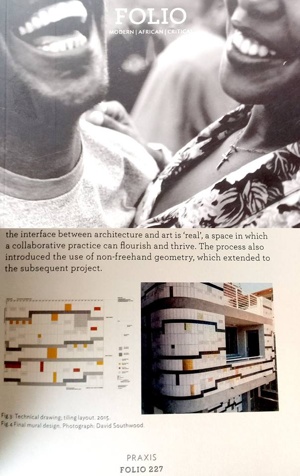 FOLIO June 2017   FOLIO magazine, an initiative by Graduate School of Architecture at UJ, has featured my work.