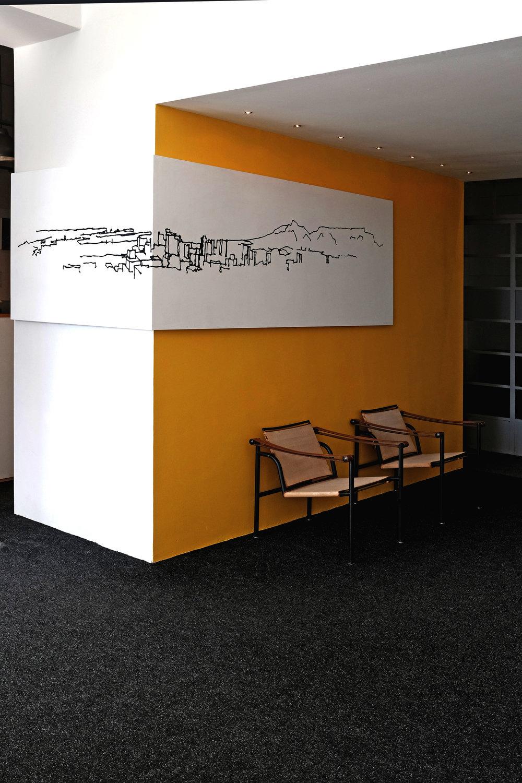 Context, Illustration on board,  LoudonPerryAndrson Architects  studio, Cape Town, 2017.