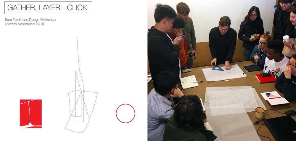 Sam Fox Urban Design workshop June 2018   I gave a workshop of drawing for a studio of visiting students of urban design.