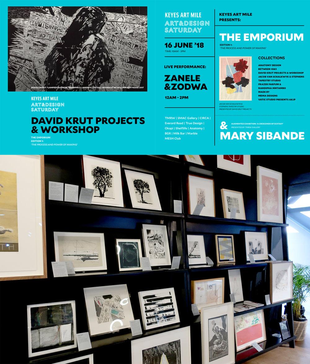 Emporium ,  Keyes Art Mile June 2018   Group exhibition including my work, David Krut Workshop, Johannesburg.