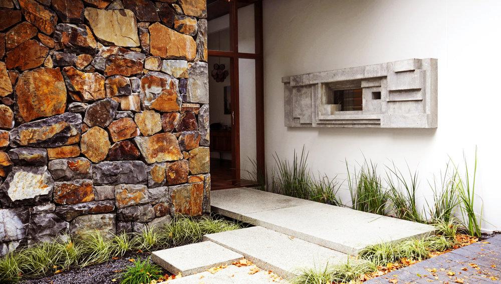 Grade,  Concrete wall sculpture, 90 cm x 240 cm, House Todd by  Antonio Zaninovic Architecture Studio , 2015