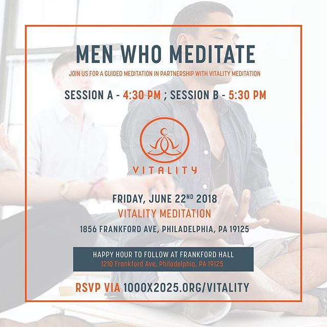 Fellas sign up ASAP for our first men who meditate event in collaboration with x @vitalitymeditation There are two session 4:30 x 5:30. Link in bio! #menwhomeditate #bmec