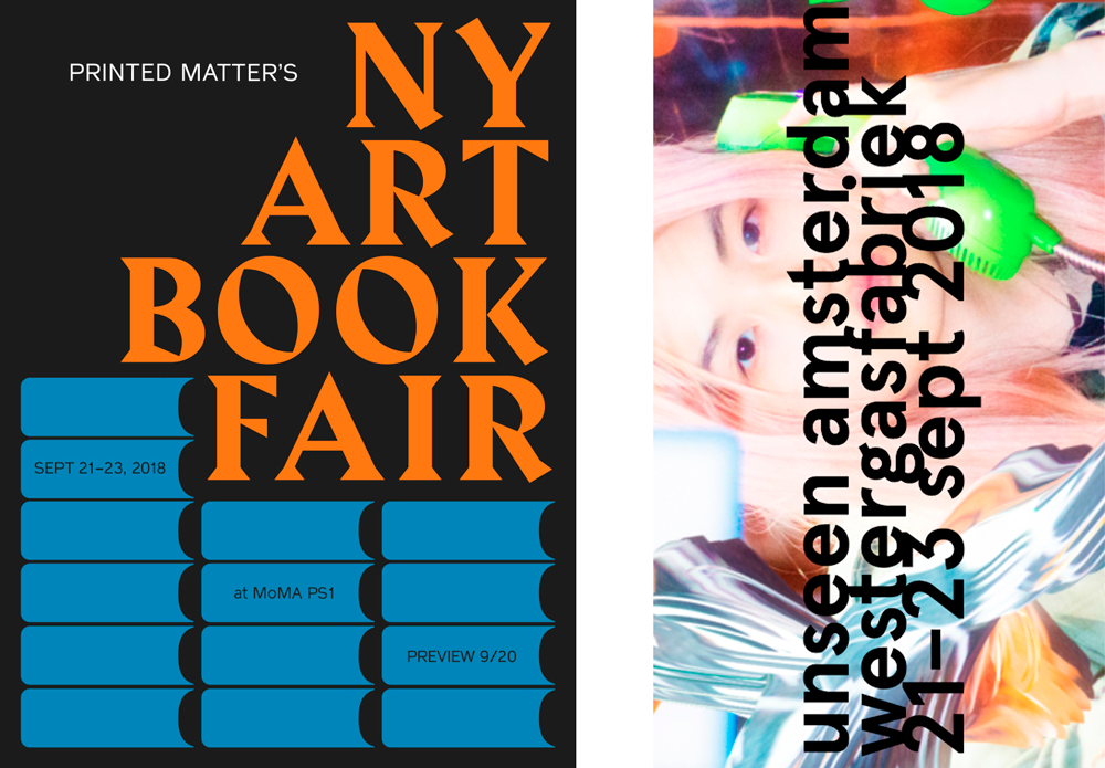 Upcoming Fairs - find us at NEW YORK ART BOOK FAIR & UNSEEN-Amsterdam, see you there!